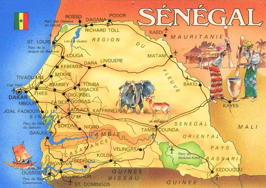 carte senegal